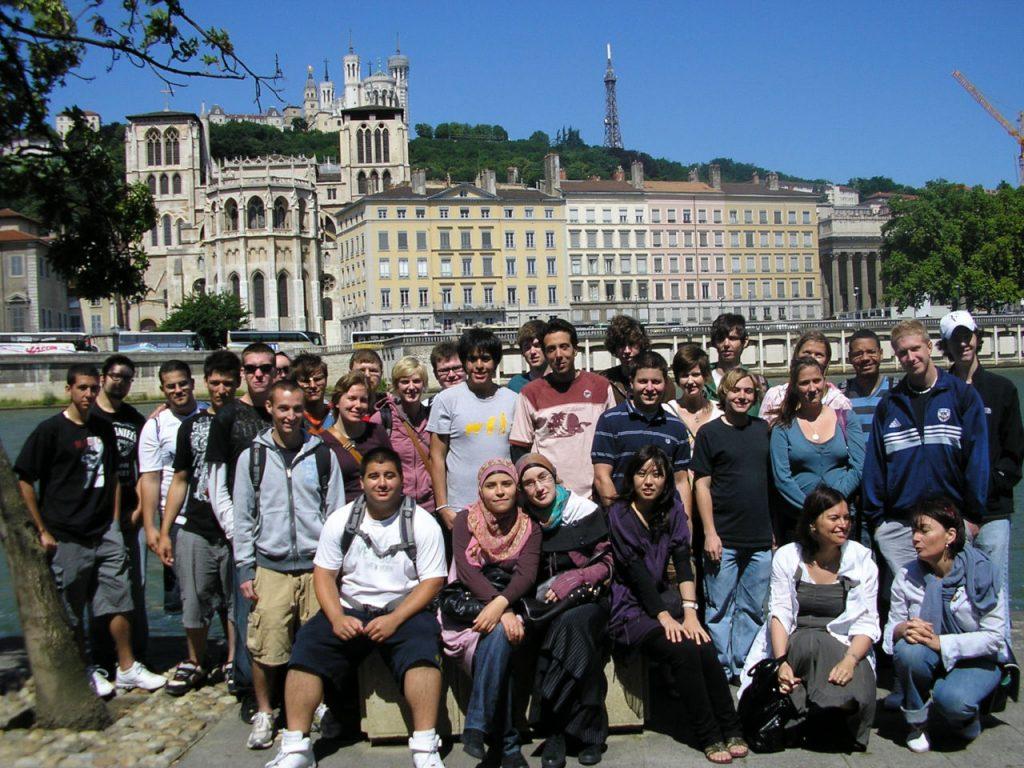 Étudiants de la summer school à Lyon
